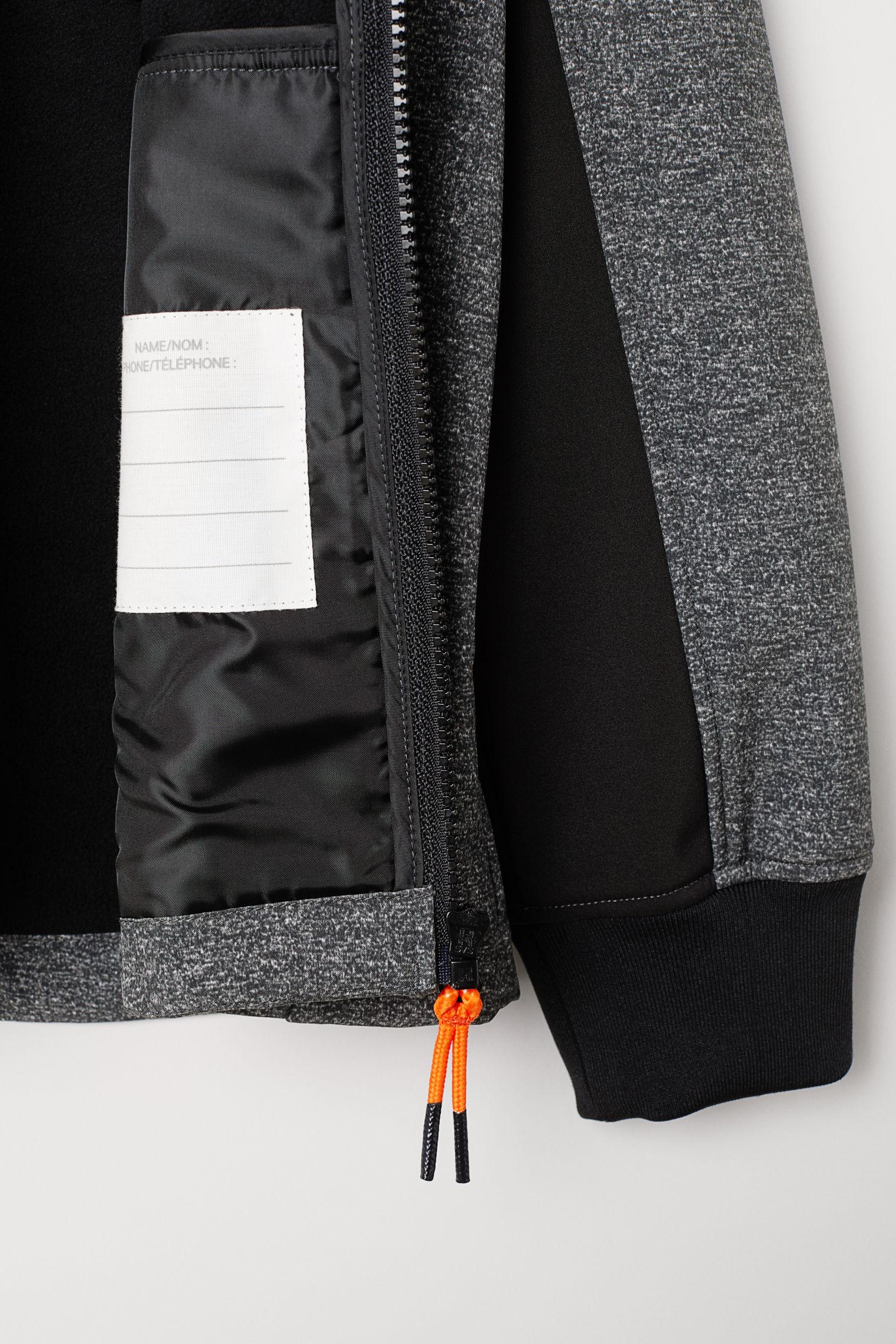 d9001333d Softshell Jacket - Dark gray melange - Kids | H&M US