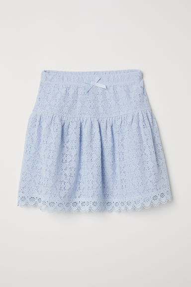Lace skirt - Light blue - Kids | H&M CN