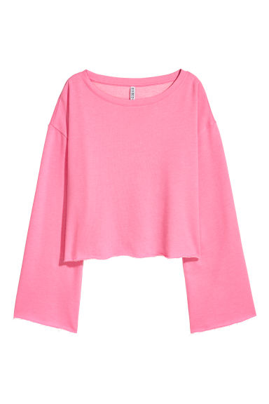 Cropped sweatshirt - Neon pink -  | H&M IE