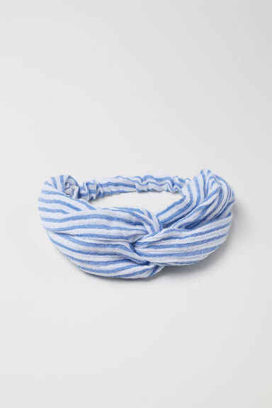 Knot-detail hairband - Blue/Striped - Kids | H&M