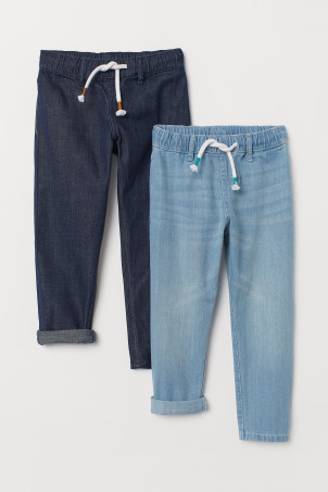Joggers in denim, 2 pz
