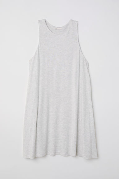 A-line Dress - Light gray melange - Ladies | H&M US