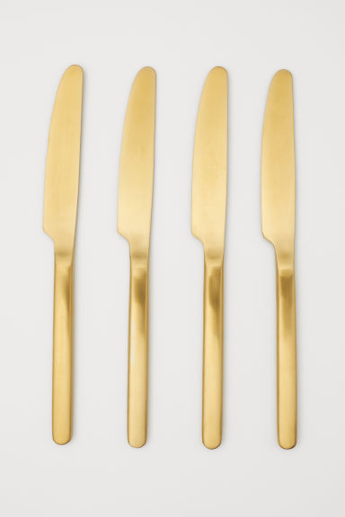 4-pack knives - Gold-coloured - Home All | H&M CN