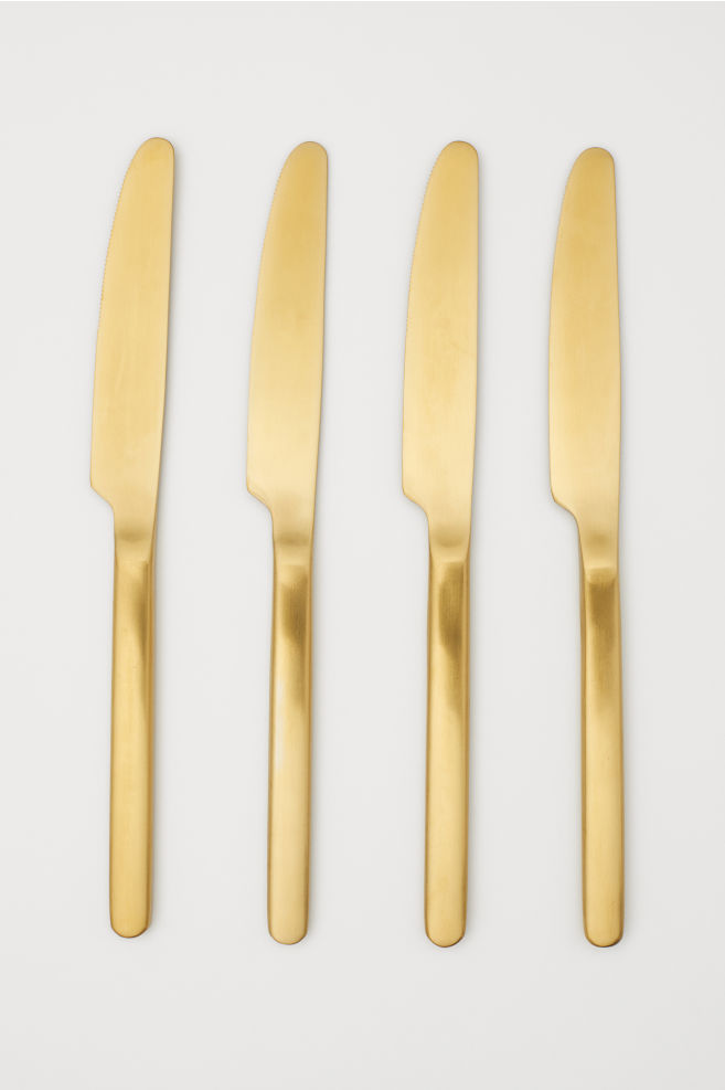 4-pack knives - Gold-coloured - Home All | H&M GB 2