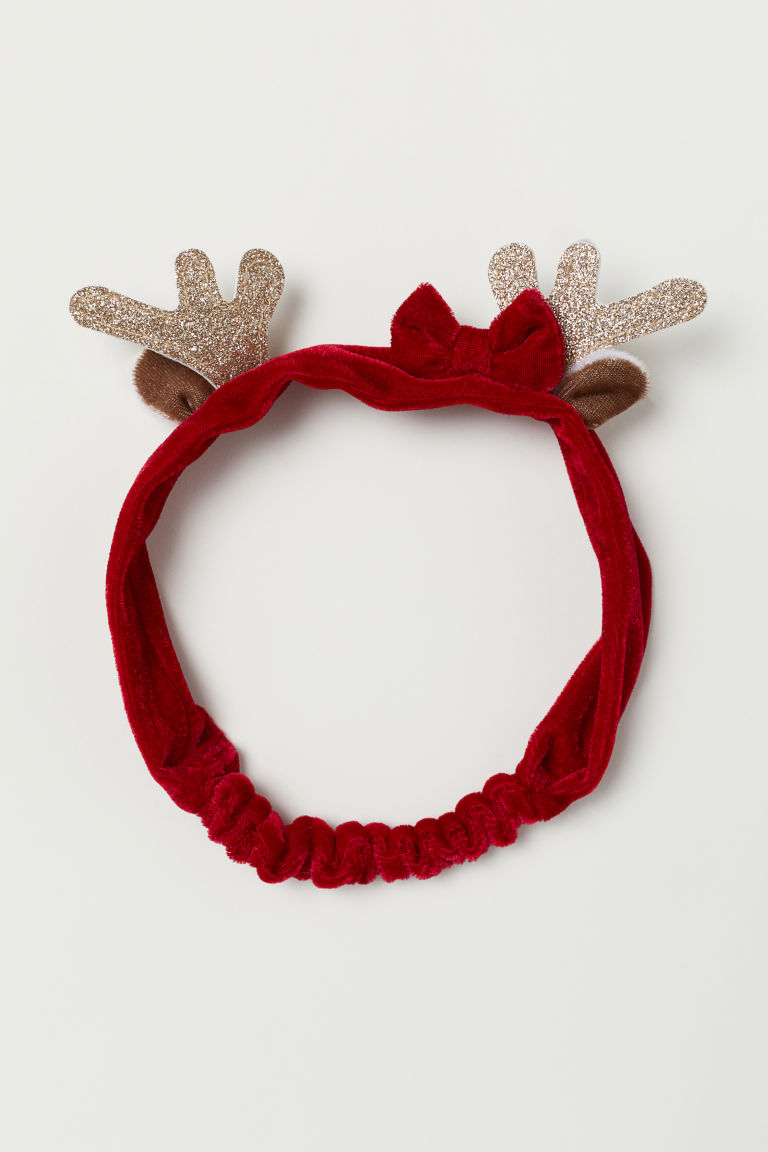 Hairband with an appliqué - Red/Antlers - Kids | H&M