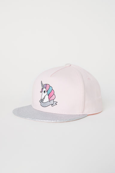 Cap with a glittery peak - Light pink/Unicorn -  | H&M
