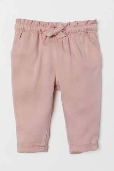 Trousers with turn-ups - Powder pink - Kids | H&M CN
