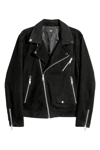 Biker jacket - Black/Silver-coloured -  | H&M