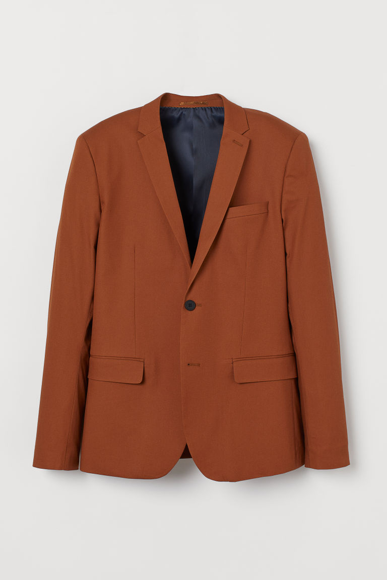 Jacket Skinny Fit - Brown - Men | H&M IE