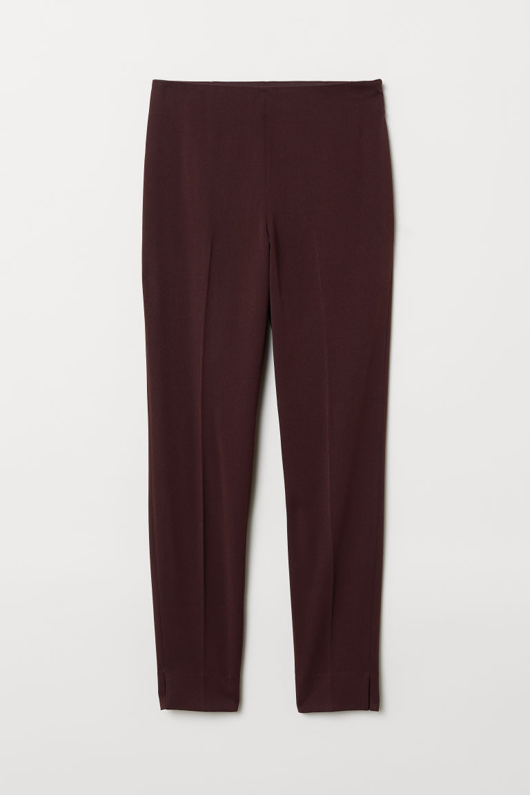 Stretch trousers - Plum purple - Ladies | H&M CN