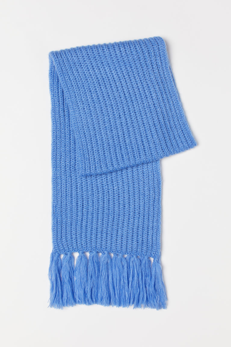 Ribbed scarf - Blue - Ladies | H&M