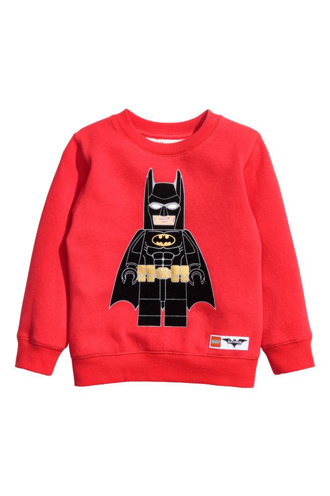 94d6e270 Sweatshirt with Printed Design - Red/Lego Batman - Kids | H&M ...