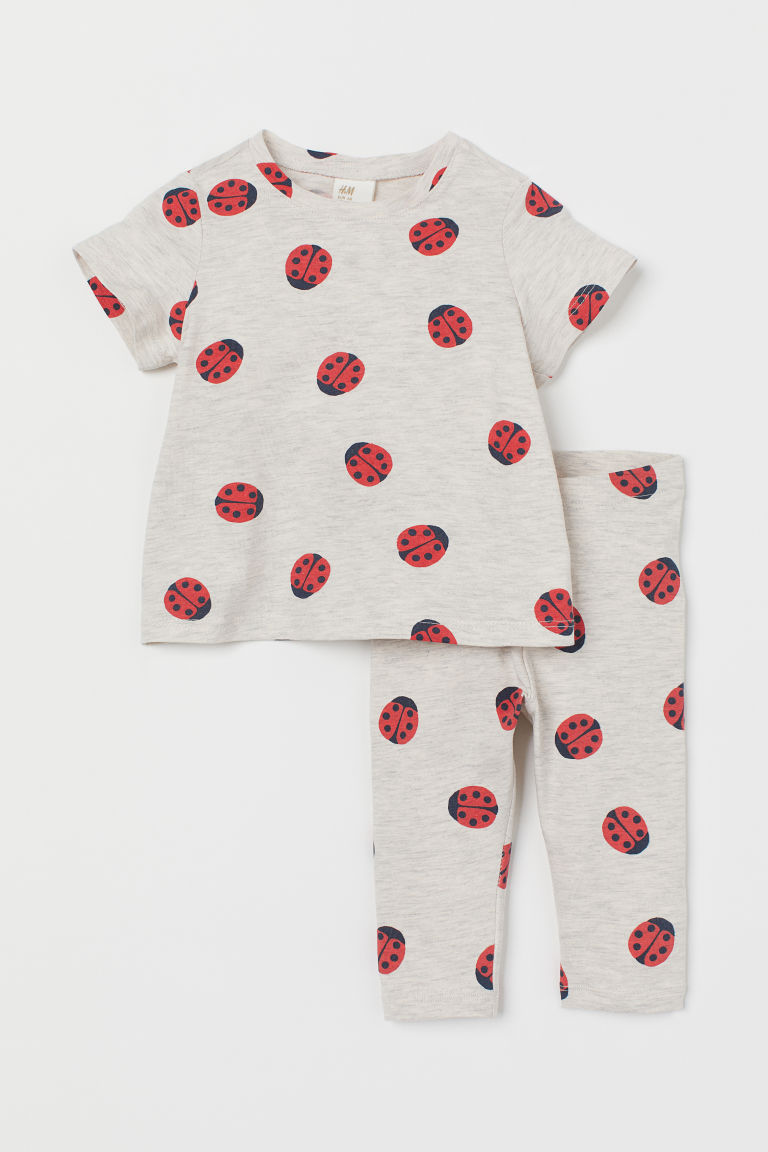 T-shirt and leggings - Beige/Ladybirds - Kids | H&M GB