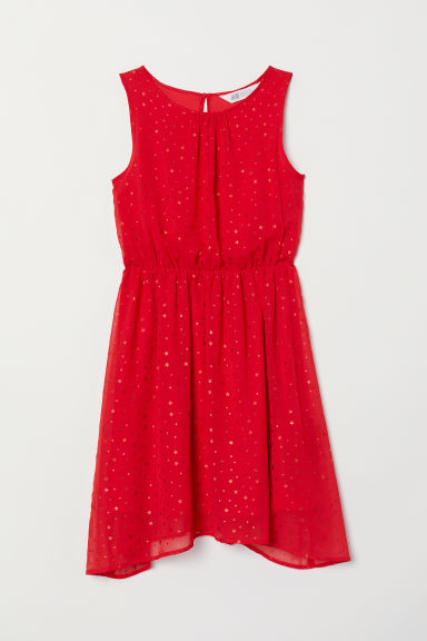 Patterned dress - Red/Stars - Kids | H&M