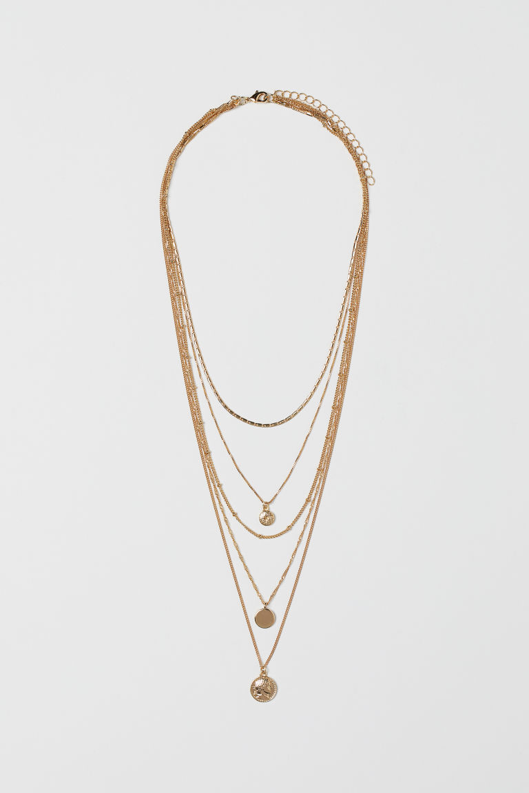 Multi-strand necklace - Gold-coloured - Ladies | H&M GB