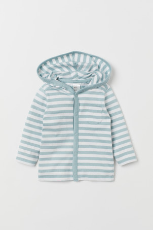 Jersey hooded cardigan