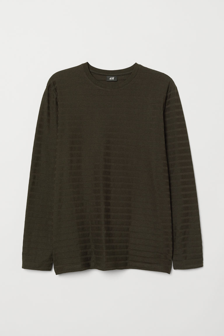 Tricot trui - Donkergroen - HEREN | H&M BE