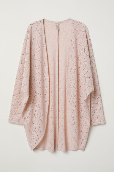Lace cardigan - Powder pink -  | H&M