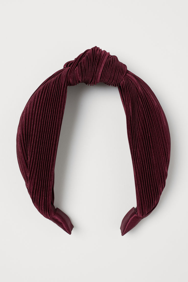 Hairband with Knot Detail - Burgundy - Ladies | H&M US