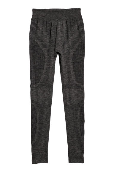 Seamless base layer trousers - Dark grey marl -  | H&M