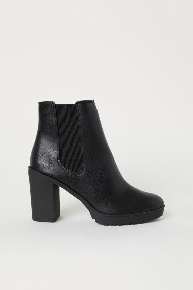 Warm-lined ankle boots - Black - Ladies | H&M