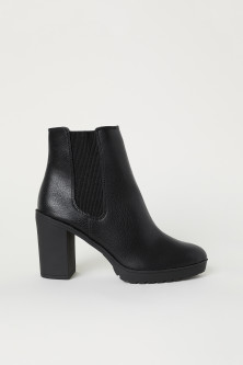 Warm-lined ankle boots