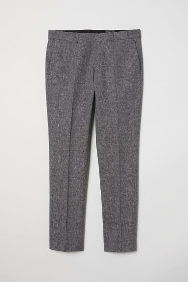Wool-blend trousers Slim fit - Dark grey marl - Men | H&M