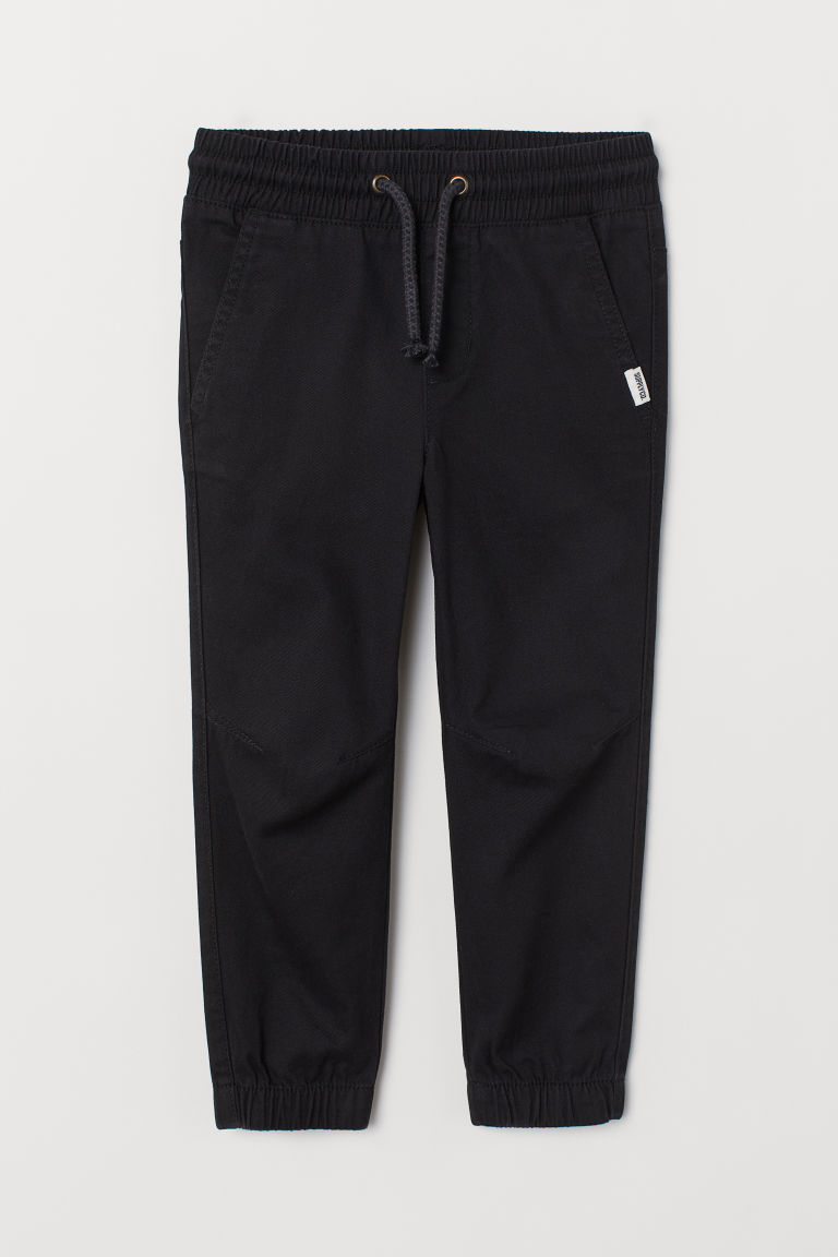 Cotton pull-on trousers - Black -  | H&M CN