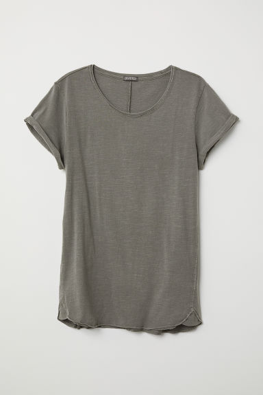 Tricot T-shirt - Taupe - HEREN | H&M BE