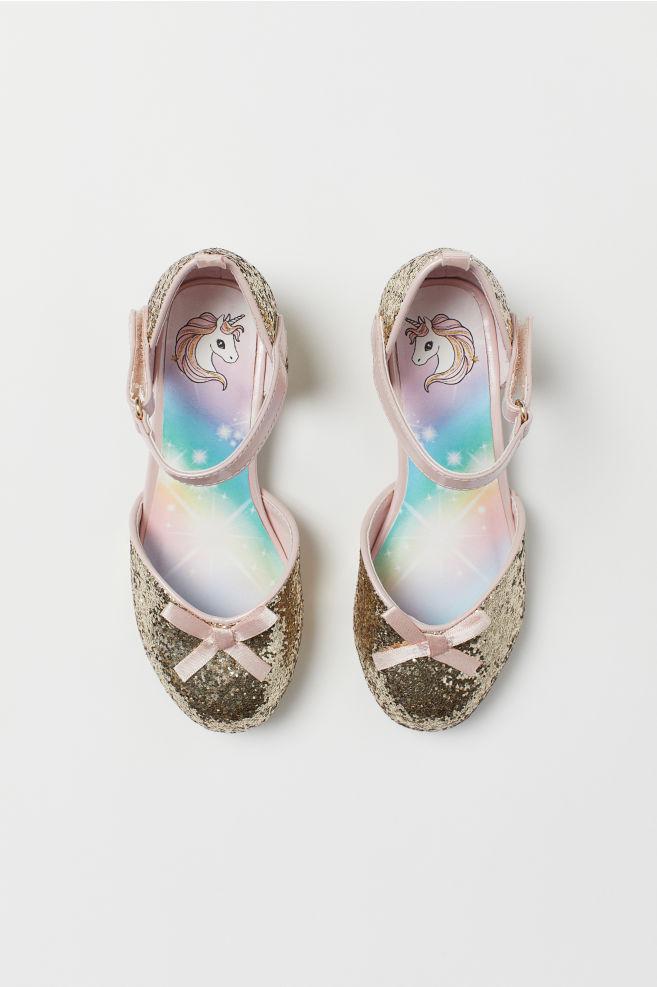 Třpytivé slavnostní boty - zlatá - DĚTI  fe190a5f83