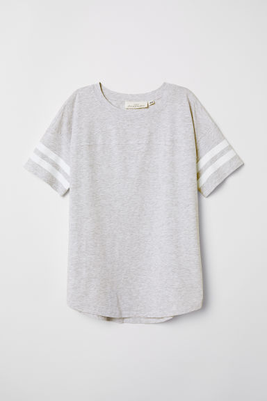 Short-sleeved top - Light grey -  | H&M CN