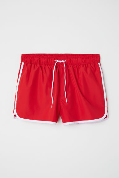 Korte zwemshort - Felrood - HEREN | H&M BE