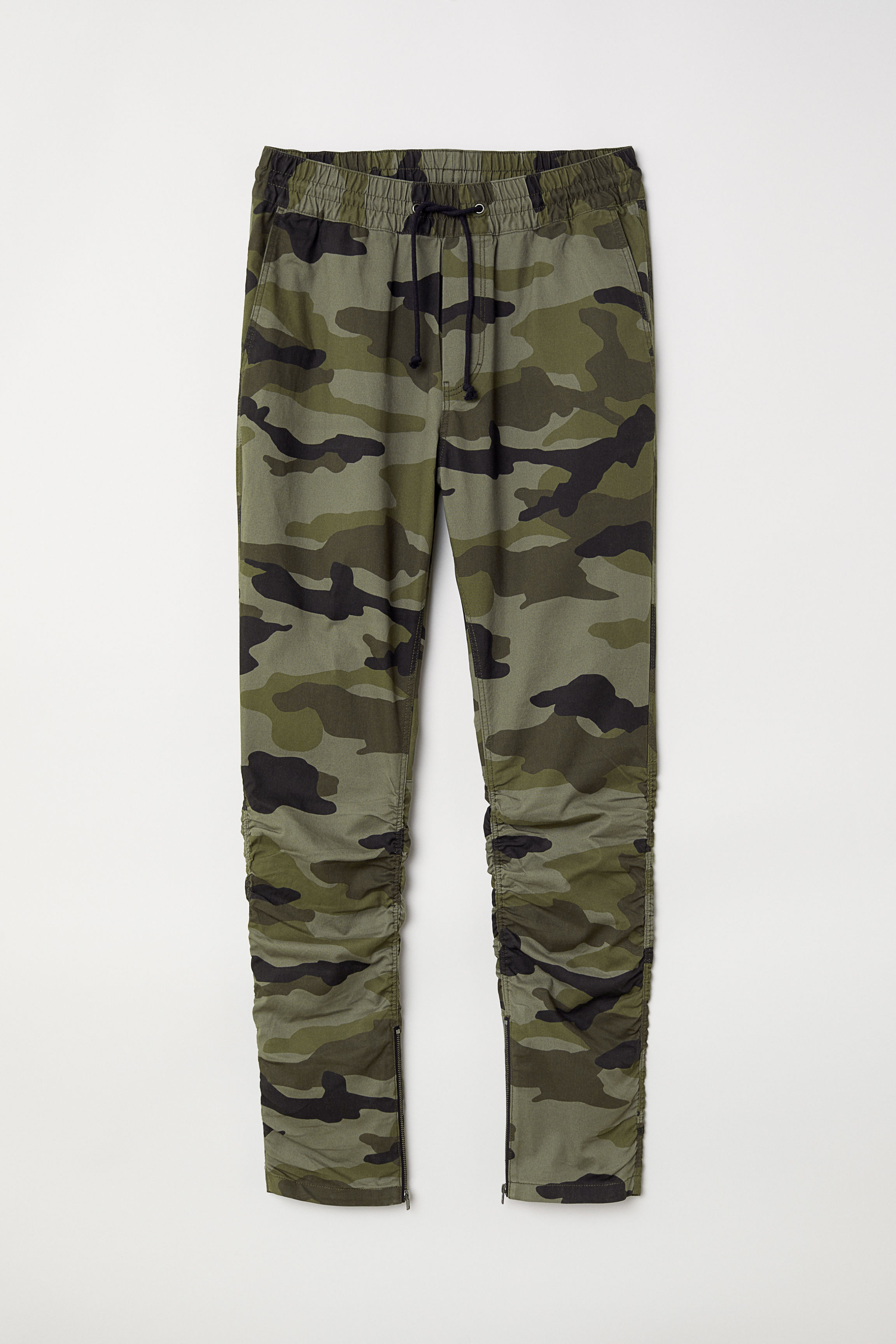 8a2575d4 Cotton Twill Joggers - Black - Men | H&M US