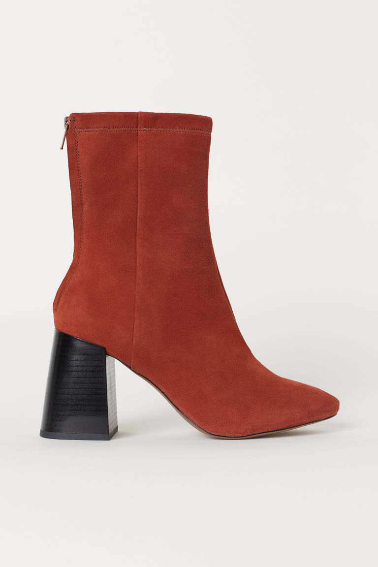 Ankle boots - Rust brown/Suede - Ladies | H&M CN