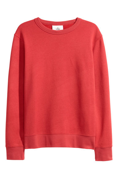 Silk-blend sweatshirt - Red marl - Men | H&M