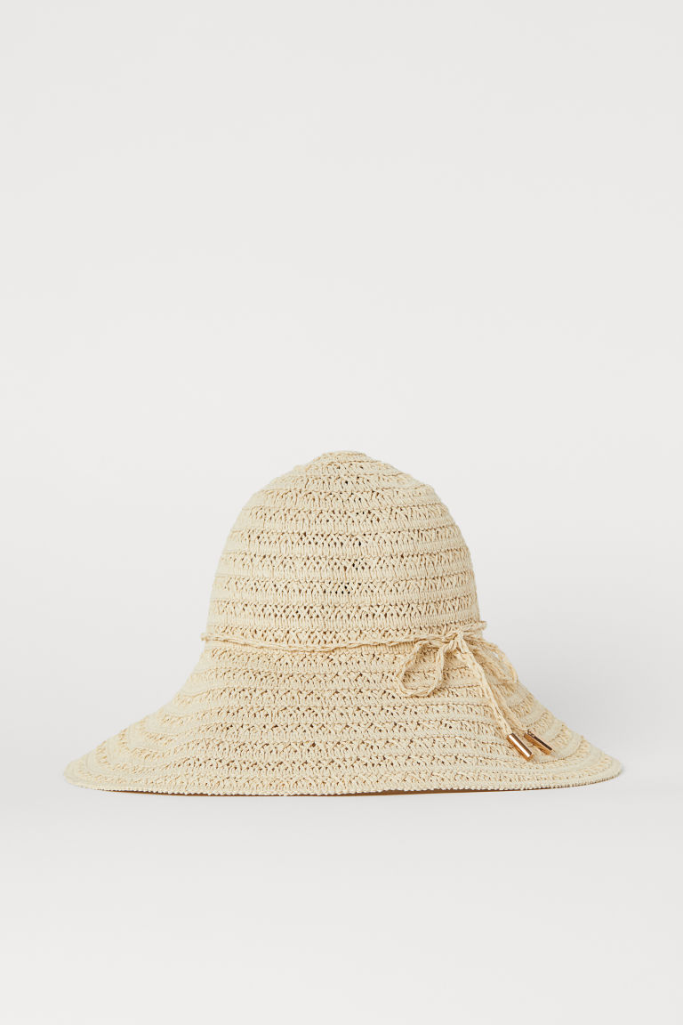 Straw Hat - Light beige - Ladies | H&M CA