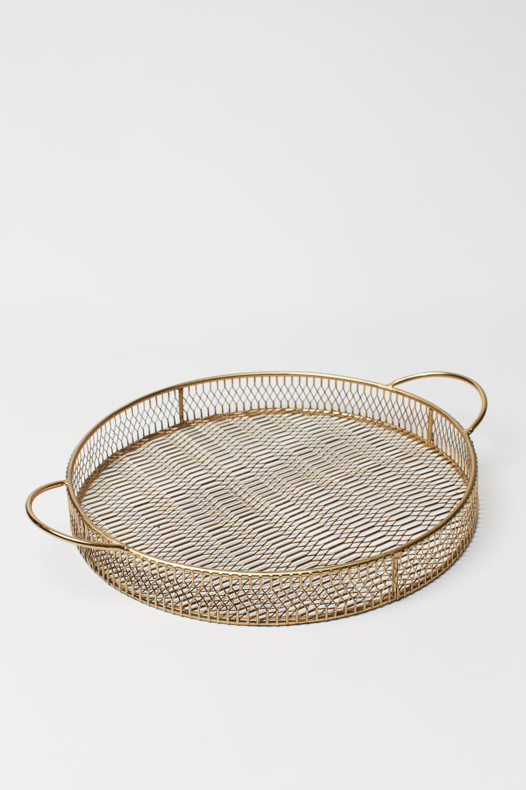 Metal tray - Gold-coloured - Home All | H&M GB