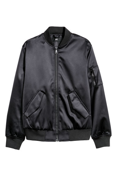 Padded bomber jacket - Black - Men | H&M