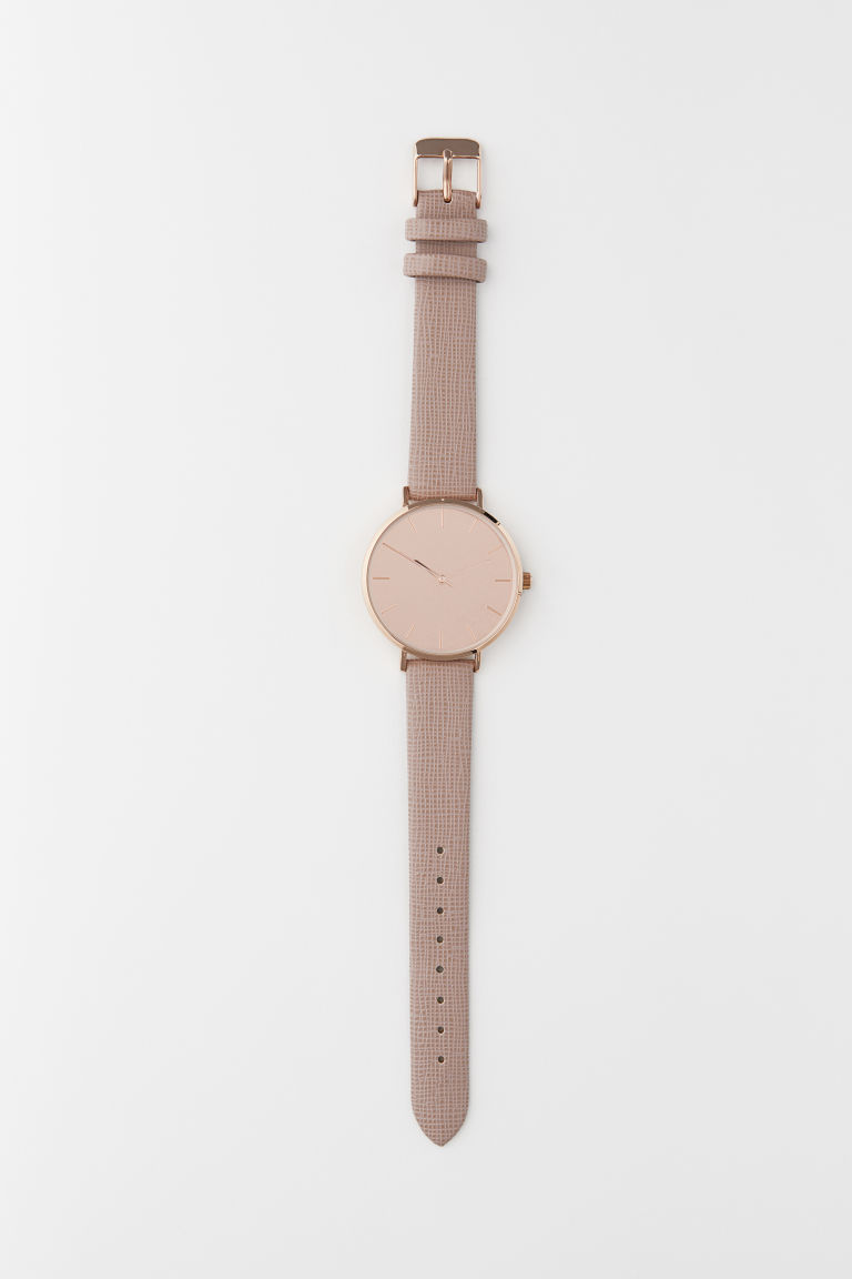 Watch - Pink/Rose gold-coloured - Ladies | H&M CN