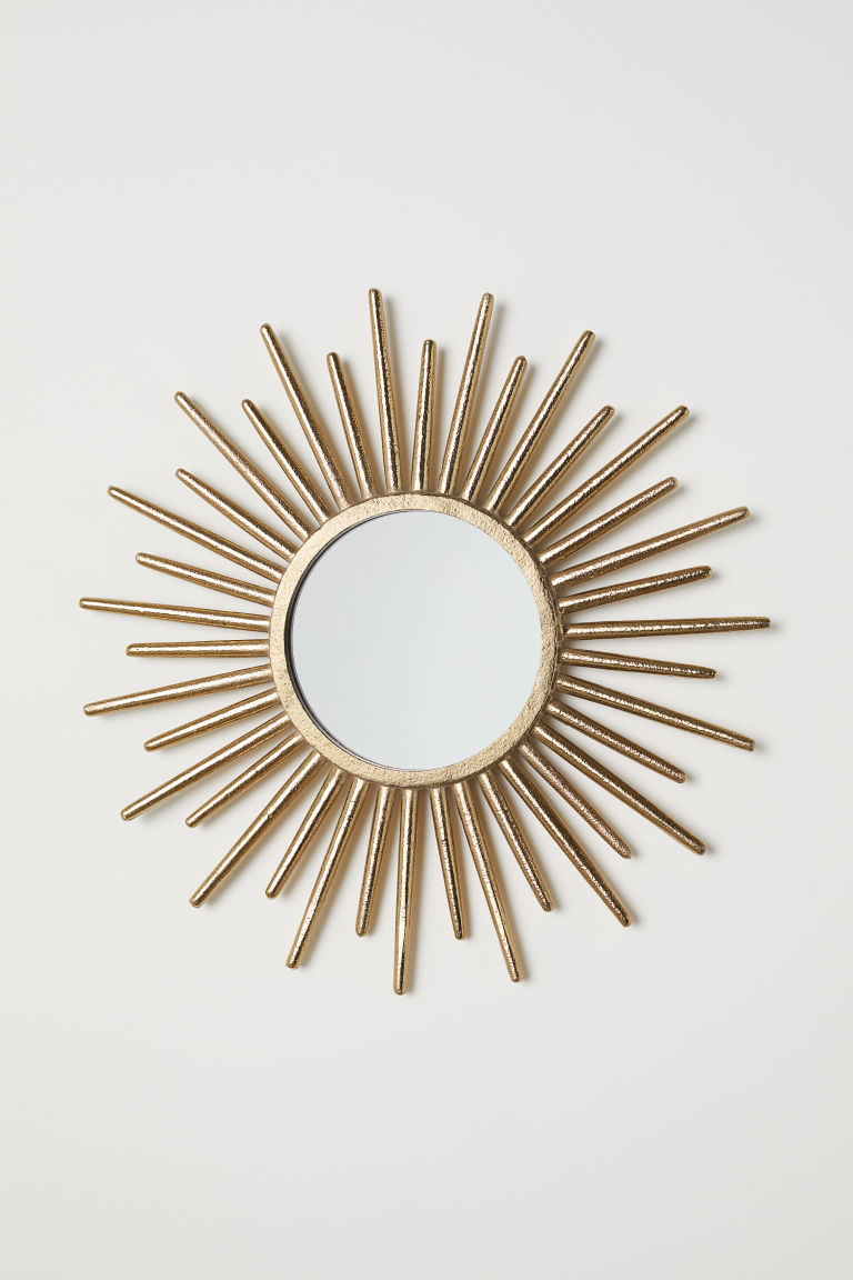 Round mirror - Gold - Home All | H&M GB