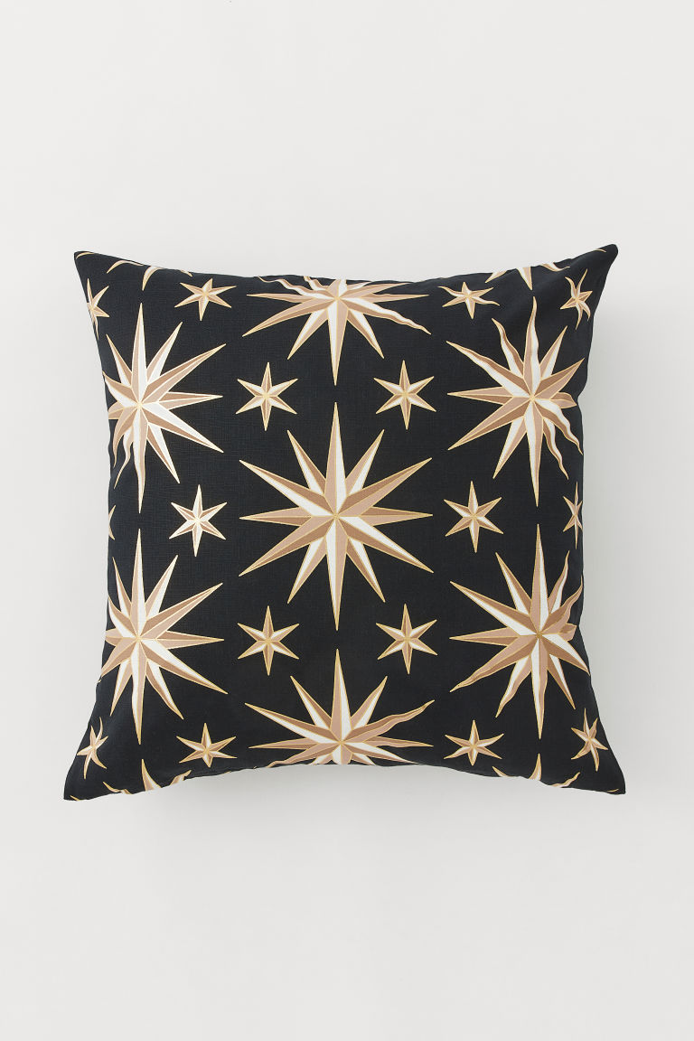Patterned Cushion Cover - Black - Home All | H&M US