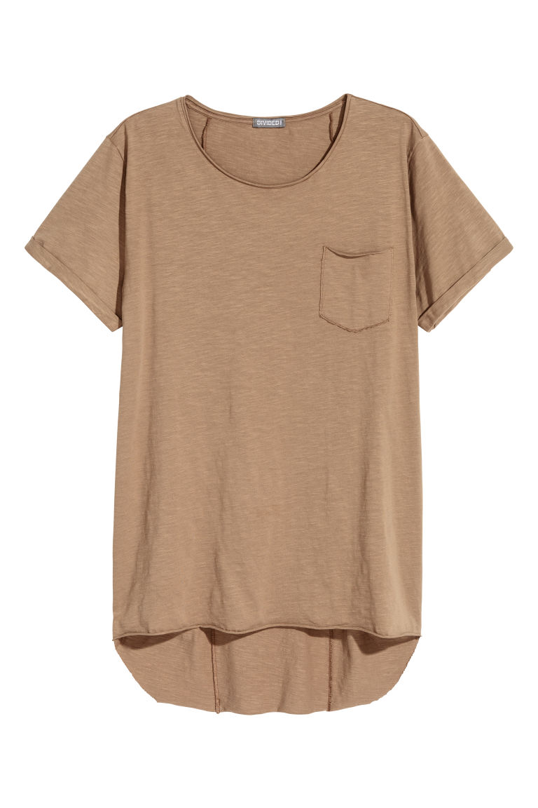 Long T-shirt - Light brown - Men | H&M CN