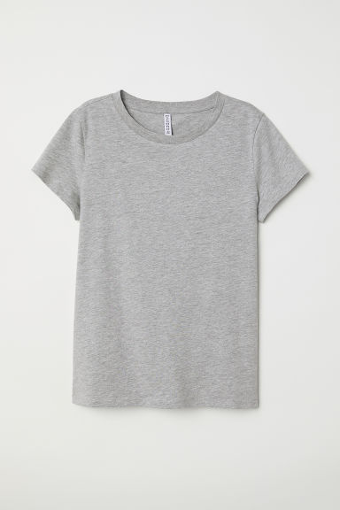 T-shirt - Light grey marl -  | H&M CN