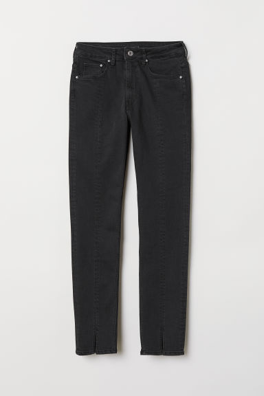 Skinny High Ankle Jeans - Black denim -  | H&M CN