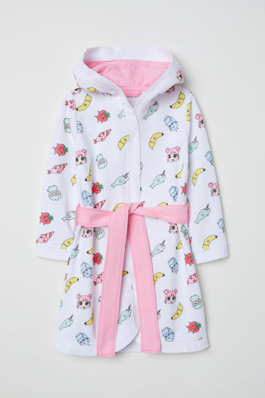 Dressing gown - White/Patterned - Kids | H&M CN