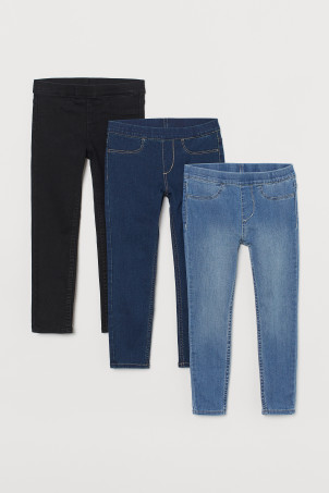3-pack denimleggings