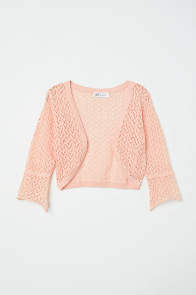 Loose-knit bolero - Apricot - Kids | H&M