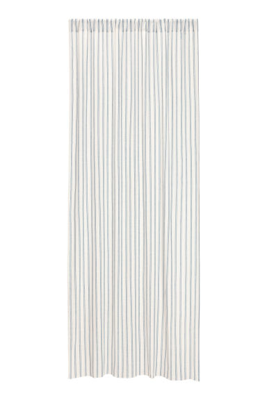 2-pack curtain lengths - White/Blue striped -  | H&M CN
