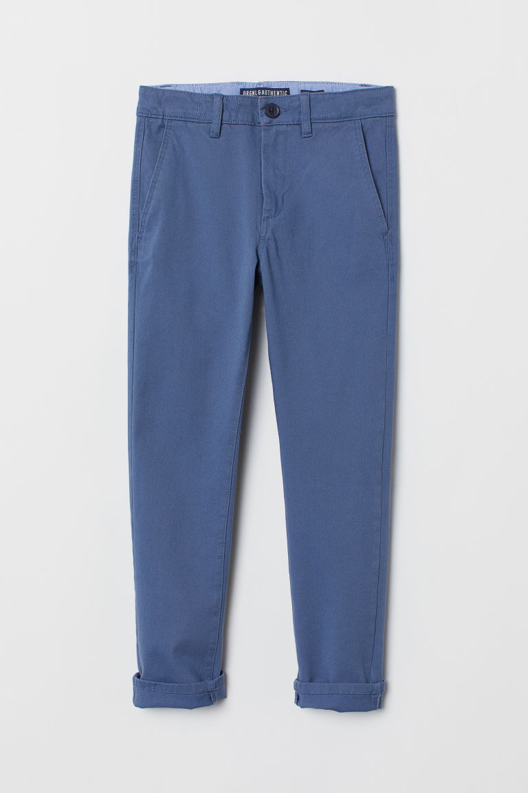 Skinny Fit Chinos - Blue - Kids | H&M CN