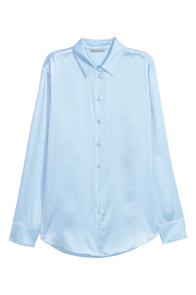 ef9957c8 Silk shirt - Light blue - Ladies | H&M ...